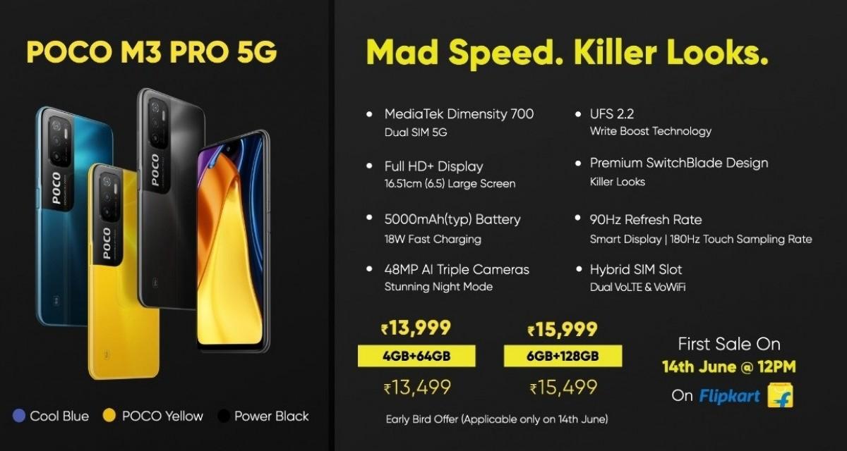 Poco M3 Pro tiba di India, penjualan dimulai pada 14 Juni