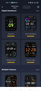 Watch faces available on Amazfit's official app