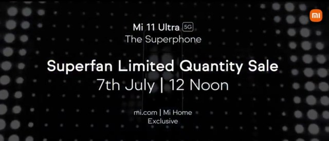 Xiaomi Mi 11 Ultra first sale in India is on July 7