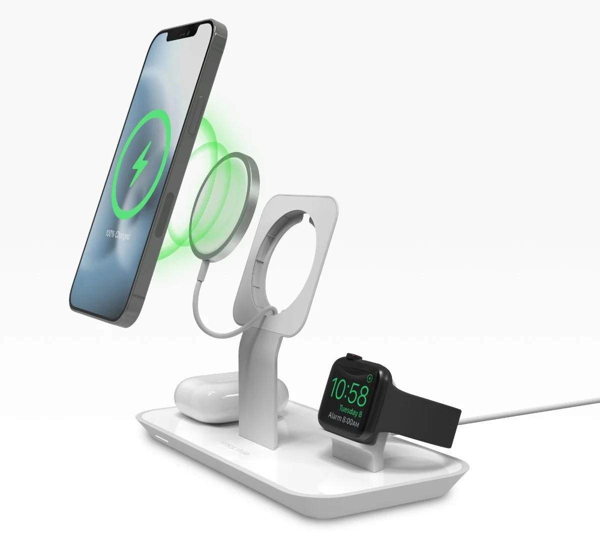 Mophie merilis dudukan Pengisi Daya MagSafe 3-in-1 untuk perangkat Apple