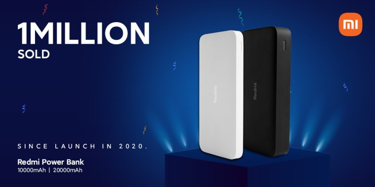 Xiaomi has sold 1 million Redmi-branded power banks (10,000 and 20,000 mAh)