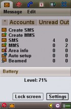 Some basic phone features can be accessed without leaving the app - Flashback: Sony Ericsson P910