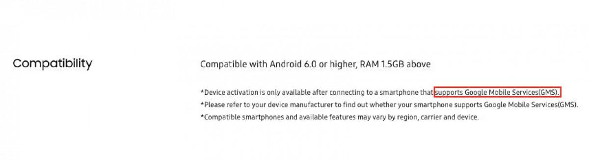 Detail kompatibilitas seri Galaxy Watch4