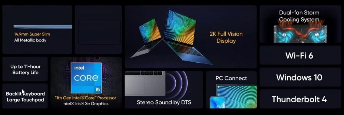 """Realme Book diumumkan dengan 14"""" IPS LCD, prosesor Intel 11-gen, dan bodi metalik"""