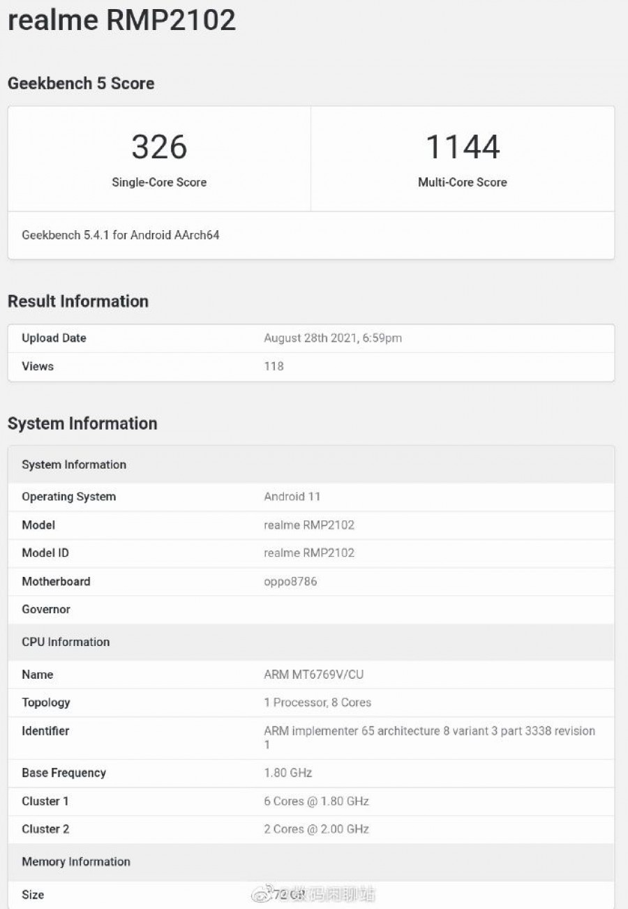 MediaTek Helio G80 dikonfirmasi untuk Realme Pad