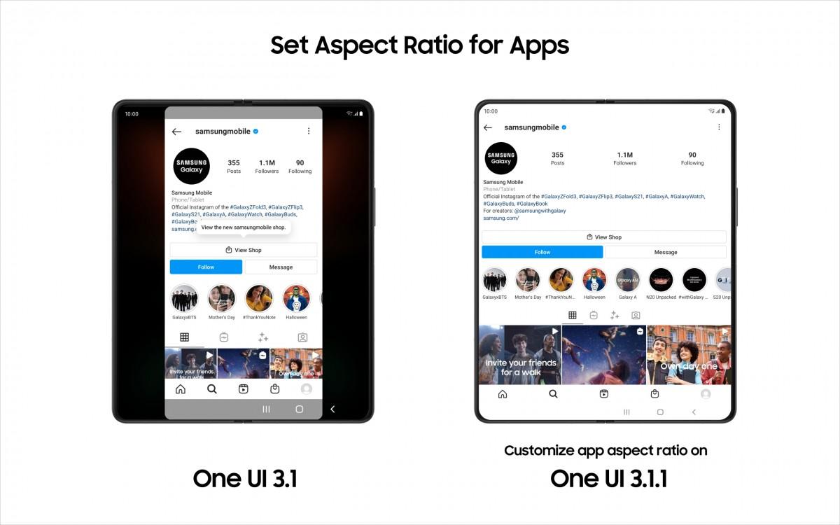 Samsung mulai meluncurkan pembaruan One UI 3.1.1 untuk perangkat lipat yang lebih lama, inilah yang baru
