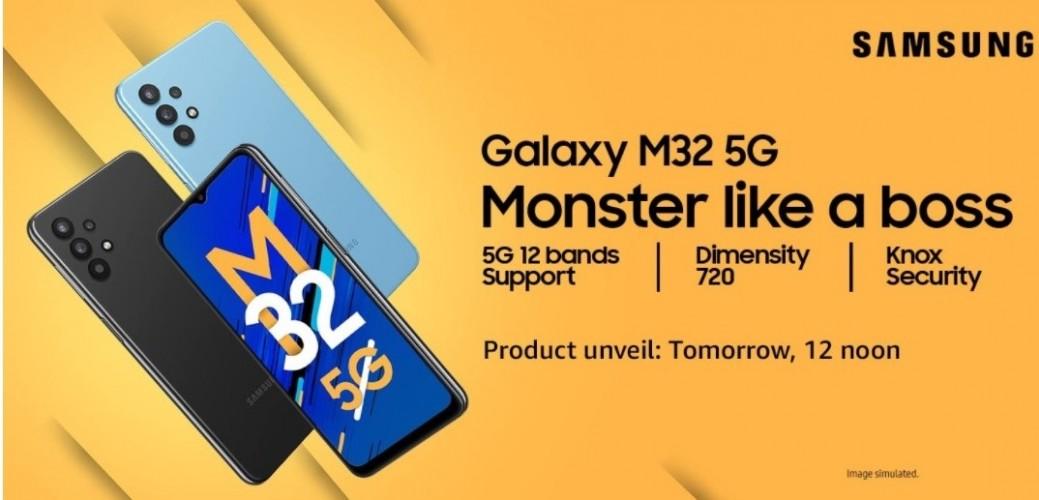 Samsung Galaxy M32 5G akan dihargai di bawah $ 340 di India