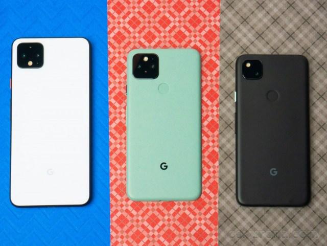 Google Pixel 4 XL, Pixel 5, and Pixel 4a