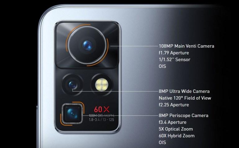 Infinix Zero x camera specifications