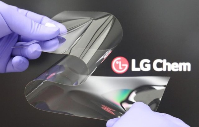LG introduces new foldable display material with no creases, hard as glass