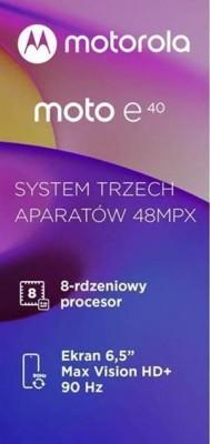 Motorola Moto E40 highlights (leak)