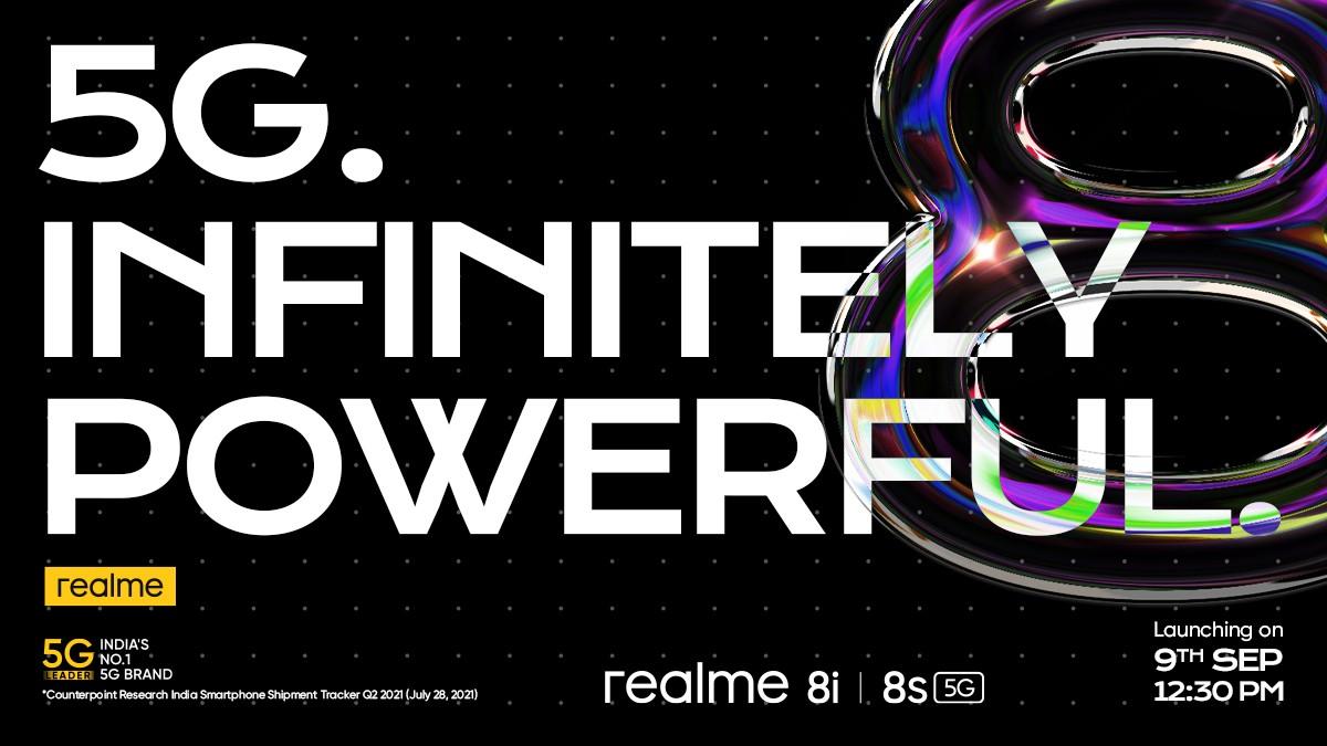 Realme 8s 5G dan 8i akan hadir pada 9 September dengan chipset MediaTek