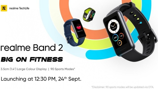 Realme Band 2 India launch set for September 24, Narzo 50 series and Smart TV Neo 32'' will tag along