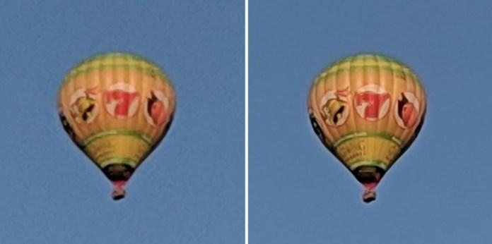 Pixel 2 (left) vs. Pixel 3 (right), both using a 12 MP sensor