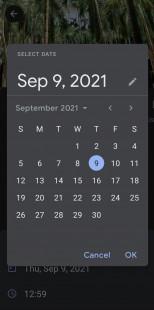 Opsi edit tanggal dan waktu baru aplikasi Google Foto Android