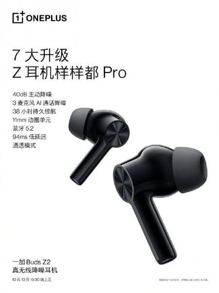 OnePlus Buds Z2 confirmed features
