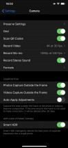 Camera settings - Apple Iphone 11 Pro and Max review