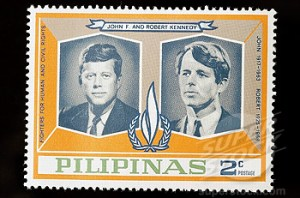 Old Philippine stamp: John F. Kennedy and Robert Kennedy