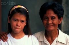 Amerasian Girl with Filipino Mother
