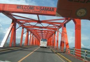 San Juanico Bridge connecting Samar island to Leyte Island August 2014