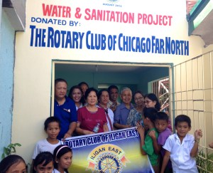 Members of Rotary Iligan East and Dr. Vicente and Ms. Luz Saavedra (standing far right)
