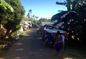 The road to the village (barangay) Salvacion, Giporlos, Samar