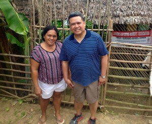 (left to right): Community leader Anacita Badaran of the Basey Women's Association and Dale Asis
