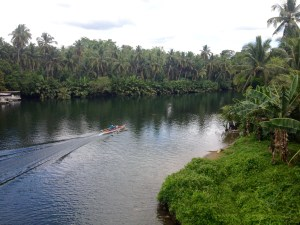 View of Sohoton River and Basey, Samar, Philippines