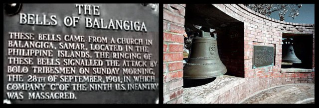 The Church Bells of Balangiga currently in Ft. Russell, WY