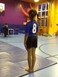 Zeynai - Waiting to start her floor routine