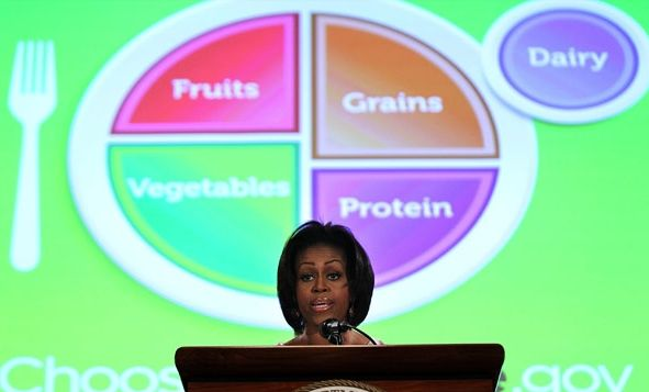 michelleobama Food Pyramid Changes to Food Plate
