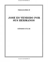 028. Jose es vendido por sus hermanos