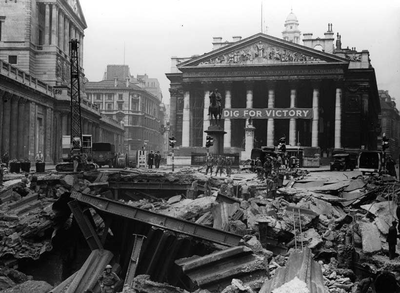 Blitz Damage Bank Underground, Royal Exchange (Linked Museum London)