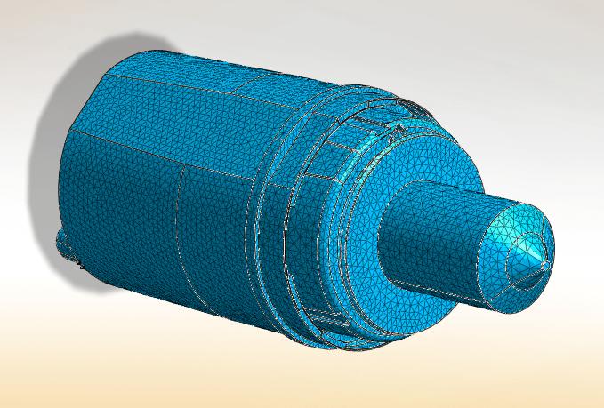 inner fluid domain meshed (mesh size 1mm)