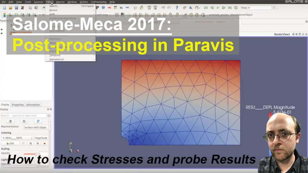 [Salome Meca Tutorial] How to check stress and probe results