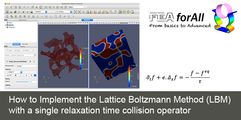 How to Implement the Lattice Boltzmann Method (LBM) with a single relaxation time collision operator