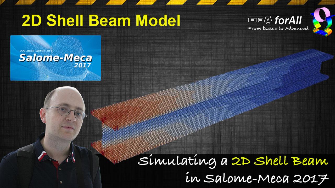 2d shell beam code aster