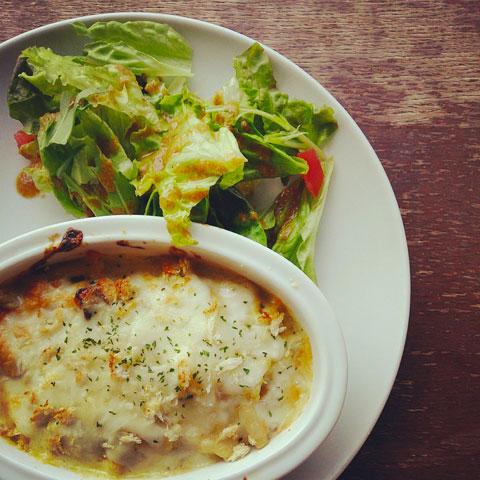 牡蠣と長芋のグラタン ゆず風味