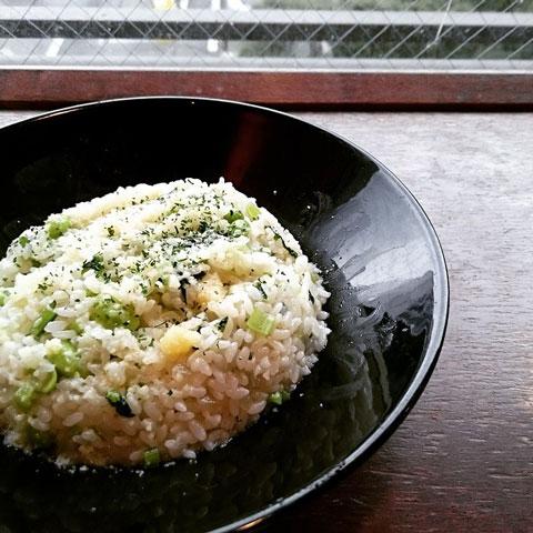 小松菜のグリーンリゾット