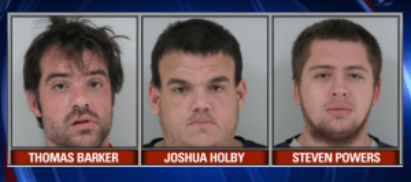 Three men arrested for Block's disappearance / Photo captured from video.