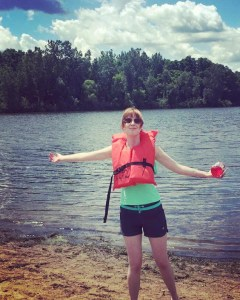 A picture of me, overcoming my fear by going canoeing.