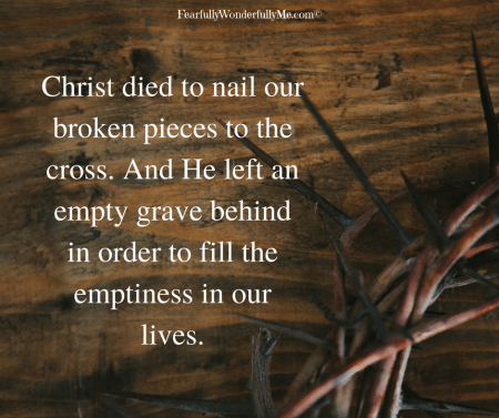 Christ fills our emptiness image