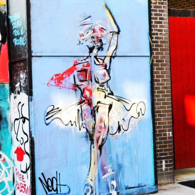 London Shoreditch ballerina
