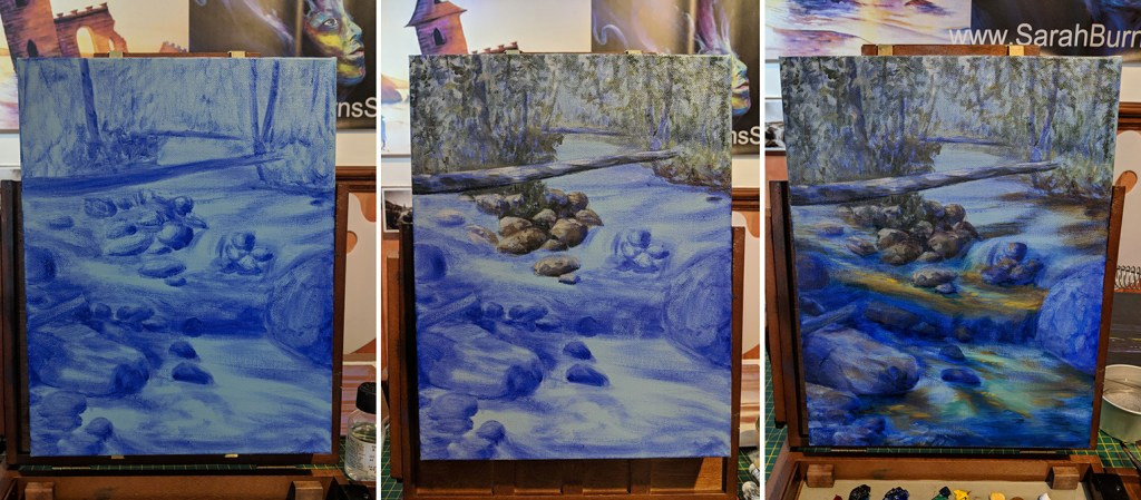 Forest River Underpainting Process