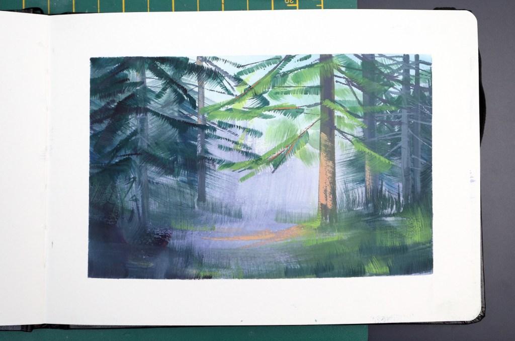 Forest gouache study
