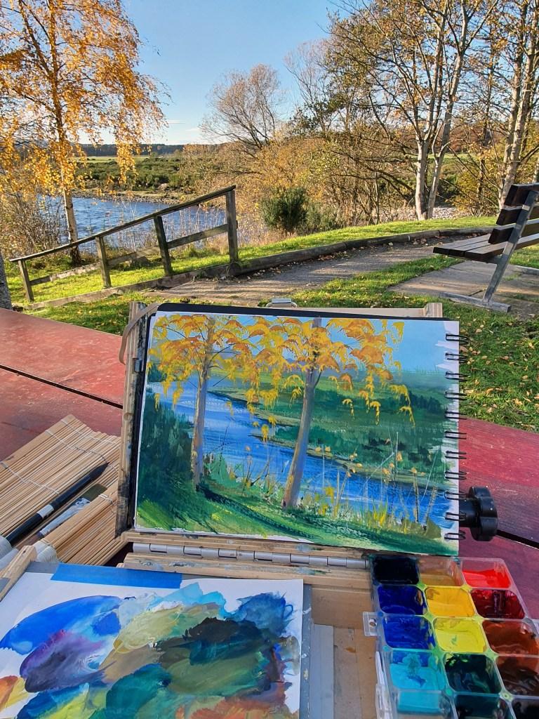 Gouache sketchbook for plein air