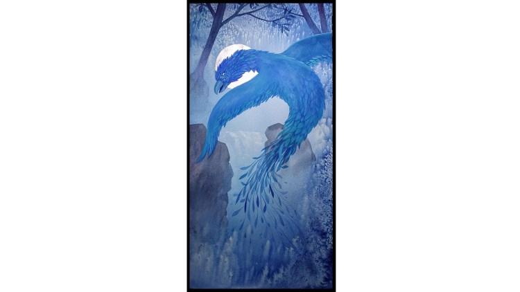 Water phoenix painting