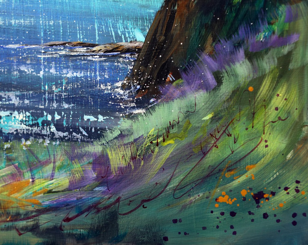 Acrylic marker landscape painting