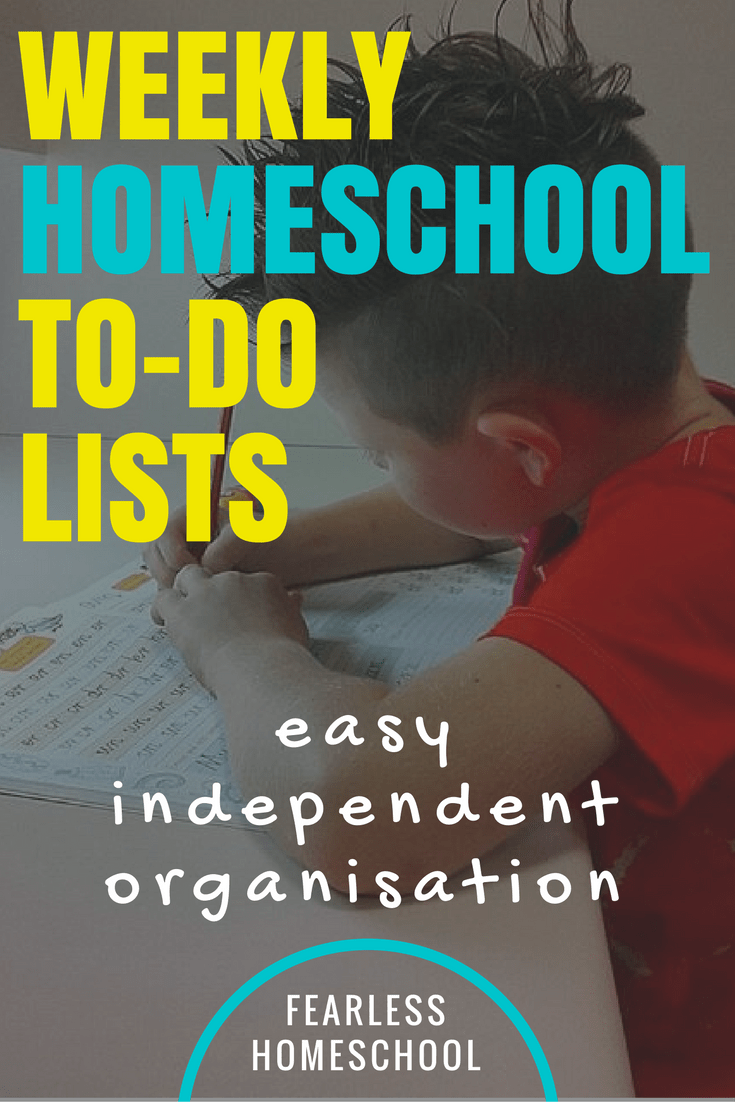 Weekly to-do lists: Encouraging Independent Organisation