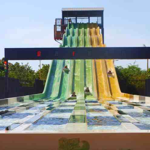 Making the most of the free waterslides in Darwin